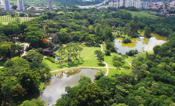 Aerial view of Burle Marx Park