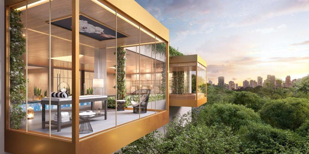 Floating glass houses, which are like luxury floating cabins that create private spaces on leisure floors.