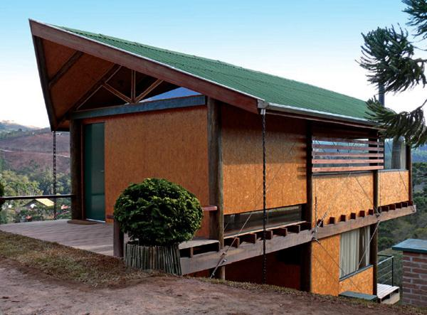 House with vegetable fiber tile roof.