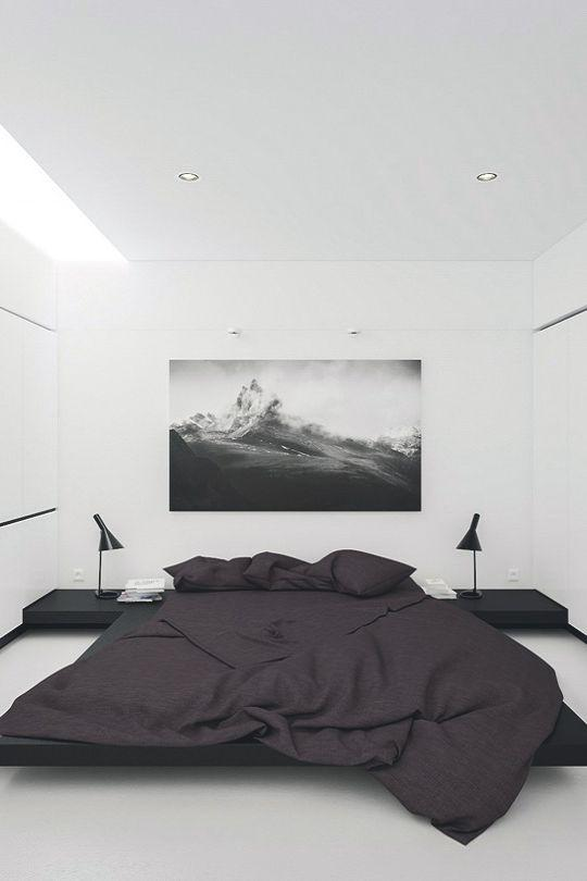 Less is more: minimalist room with few decorative details.